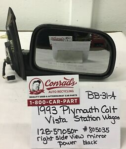 USED Vintage Plymouth Colt Vista station wagon 1993' Right side view mirror