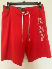 A&F Abercrombie Swim Board Shorts Size 29 Red