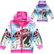 Moana Fall Spring Fashion Girls Kids Hoodies Casual Coat Outerwear Jacket