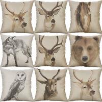 Deer Head Pillow Case Sofa Car Waist Throw Cushion Cover Home Decoration