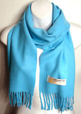 """NEW LUXURIOUS & WARM TURQUOISE BLUE CASHMERE SCARF WRAP 53"""" LONG"""