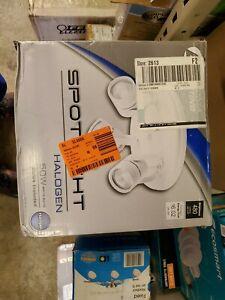 Lithonia Lighting Round Mesh Back 9.5 in. 3-Light Matte White Track Lighting Kit