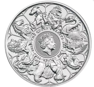 2021 2 oz British Silver Queen's Beast Collection Completer Coin (BU)