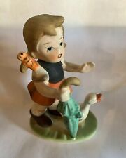 Collectors Choice Series By Flambro Figurine Girl With Umbrella And Duck