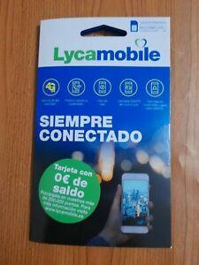 Tarjeta Sim Telefono Prepago Lycamobile Activada España