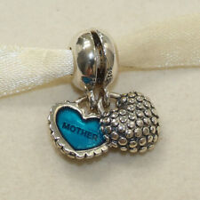 New Authentic Pandora Charm Piece of My Heart Mother & Son 791152EN08 W Suede Po