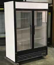 Used True Two Glass Door Freezer Merchandiser - Led Lighting