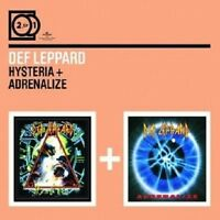 """DEF LEPPARD """"HYSTERIA/ADRENALIZE"""" 2 CD NEU"""