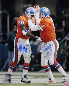 John Elway & Terrell Davis Autographed Denver Broncos 16x20 Photo BAS 25308