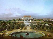Bellotto Kaiserliche lustschloss Schlosshof gartenseite impresión 350oma