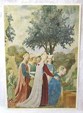 Rare Vintage Piero Della Francesca Postcard L'Adorazione Del Ponte Arezzo Art !