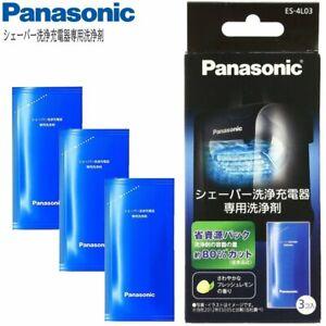 Panasonic ES-4L03 Cleaning Agents 3 Pcs for Ram Dash Shaver