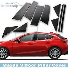Carbon Fiber For Mazda 3 Hatchback Sedan Pillar Posts Trim Cover 2014 2017