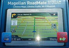 """Magellan RoadMate (5175T-LM) 5"""" Portable GPS w/ Wi-Fi & LIFETIME Maps! L@@K!!!"""
