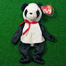 Ty Beanie Baby Fortune The Panda Bear 1997 Low Production RETIRED Gasport Error
