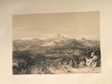 Pirineos desde Bayona .George Vivian, litografia original.Londres 1838