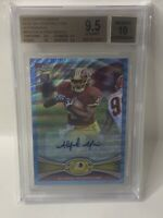 ALFRED MORRIS 2012 TOPPS CHROME BLUE WAVE REFRACTOR RC AUTO BGS GEM MINT 9.5/10