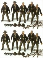 "5/10Pcs INDIANA JONES RAIDERS OF LOST ARK 3.75"" Action Figure Toy Removable Cap"