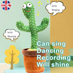 Dancing Cactus Plush Toy, Electric Repeat Voice Singing Recording Cactus Lovely