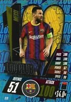 MATCH ATTAX 2020/21 LIONEL MESSI 100 HUNDRED CLUB NO CL9