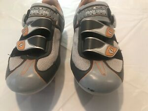 Pearl Izumi Attack Rd Cycling Shoes SPD Clips Women US 8 EUR 39 Grey Yellow 5718