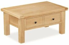 Oak Rectangle Modern Coffee Tables with Drawers
