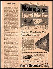 1954 Motorola Car Radio Model 404 and 554 Golden Voice  Vintage Print Ad