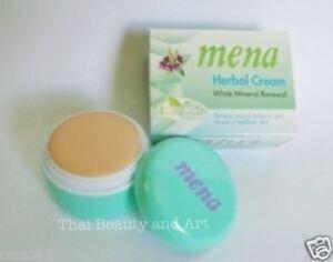 MENA Extra Whitening Herbal Mineral Renewal Moisturizer Lighten Cream 3g./0.1oz