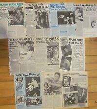 Mark Wahlberg, Lot of TEN Full Page Vintage Clippings