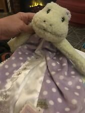 NWT Bunnies by the Bay Lily Mae Leap Frog Satin Lovey Security Purple Blanket