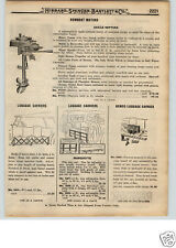 1922 PAPER AD Caille Rowboat Outboard Motor Fishing Boat