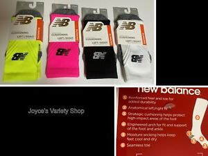 New Balance Running Socks Cushioning Adult Sz S Two Pair Same Color Variety
