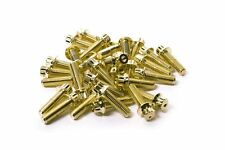 160x Gold Split Rim Bolts M7 x 24mm BBS RM OZ Wheels High Tensile Steel Screws