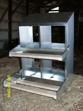 "(9x4Pk) 4-Hole 9""x9"" Metal Chicken Nesting Box; egg NEW"