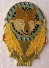 Hat Lapel Pin Tie Tac Western Dream Catcher Wolf NEW