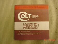 Colt Lawman Trooper Peacekeeper 1987 Manaul