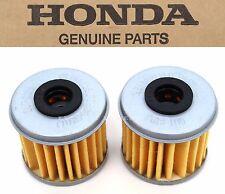 New Genuine Honda 2 Oil Filters CRF150R 250 450 R X TRX450R ER (See Notes) X66