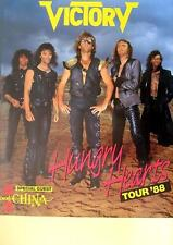 """VICTORY/Cina TOUR POSTER/MANIFESTO CONCERTO """"Hungry years Tour 1988"""""""