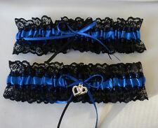 Wedding Garter Set Blue And Black