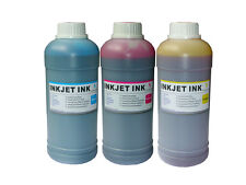 3 Pint BULK Yellow Magenta Cyan Ink Refill Kit for HP Lex Dell Canon Brother