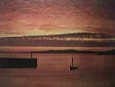 postcard used cleggan harbour co galway ireland