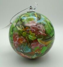 """Pier 1 Imports Spring Floral Birds Cardinal Robin Finch 4"""" Ball Ornament New"""