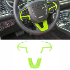 Steering Wheel Cover Trim for Dodge Challenger/Charger/Durango 2015-2020 Green