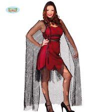 Mantello a rete con cappuccio vampira fattucchiera 140 cm