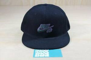 NIKE SB ICON LOGO FITTED HAT MILLI VANILLI PACK BLACK PURPLE GREEN 7 3/8 CAP NEW