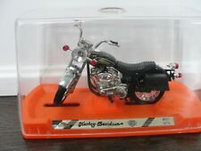 vintage Metal Guiloy 12172 Harley Davidson Motorcycles w/ stand and plastic case