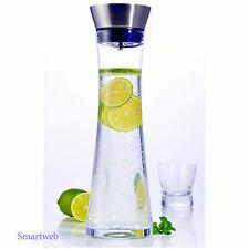 Karaffe 1Liter Wasserkaraffe Saftkrug Krug aus Glas mit Ausgiesser Sieb Küche