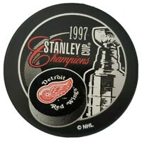 1997 STANLEY CUP CHAMPIONS DETROIT RED WINGS VINTAGE NHL OFFICIAL PUCK 🇸🇰 GEM