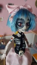OOAK monster high  Custom Repaint zombirella elrubius virtual hero elrubiuswtf