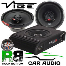 Vauxhall Insignia 2008 On Vibe 900W Underseat Sub & Front Door Car Speaker Kit